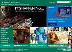 How to access Windows Media Guide on Media Player of Windows 8 for streaming