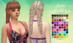Aveira Sims 4: SimLaughLove's Double Threat Braids hair recolor - Sims 4 Hairs - http://sims4hairs.com/aveira-sims-4-simlaughloves-double-threat-braids-hair-recolor/