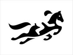 Negative space #logo #stencil #sjabloon paard met jockey