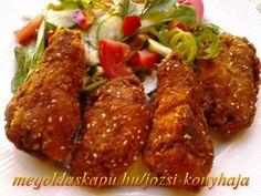 Csípős rántott csirkeszárnyak http://megoldaskapu.hu/csirkeszarny-receptek/csipos-rantott-csirkeszarnyak • 1 kg csirke szárny • 1-2 db chili paprika vagy chili por • 3-4 gerezd fokhagyma • 4 dl tej • szárnyas fűszerkeverék • só • őrölt fekete bors • A panírozáshoz: • liszt • tojás • zsemlemorzsa • 1 mk. chili por ...