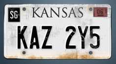 Impala Plates--can't wait for Baby to come back.