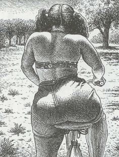 Pictures have a lot more power than text. Text is just a bunch of little symbols. You have to actually read it and imagine it, and even that can be censored. With pictures, it's a lot more immediate. Robert Crumb