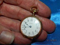 1905 AWW Co Waltham Open Faced Pocket Watch 14k Gold not for scrap Keystone Ruby #WalthamKeystone