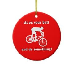 Mountain Biking Ceramic Ornament Bicycle Art Christmas Tree