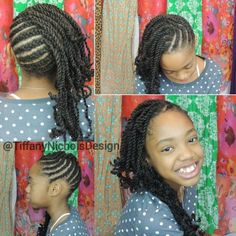 #45. Cornrows and Twists Natural Hairstyle (Kid Friendly)