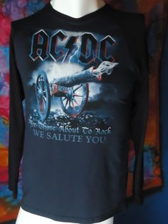 AC/DC - For Those About To Rock We Salute You - T-shirt - Long Sleeve - M