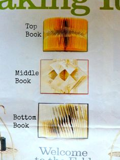 Book folding instructions from Budget Living Magazine (2002/3) Part 1