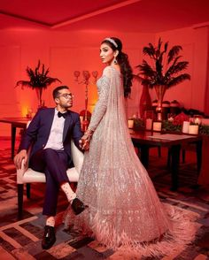 The gorgeous couple @juhigodambe & @sidj92 at their glam-packed sangeet ❤️. Engagement Outfits, Engagement Couple, Sangeet Outfit, Intimate Wedding Ceremony, Cocktail Gowns, Amazing Weddings, Picture Outfits, Wedding Images, Wedding Pictures