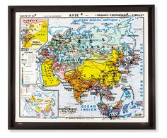 WANT WANT WANT!!! Vintage French School Map, Large - Wall Art - Accessories - Room & Board