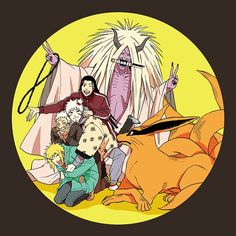 trapped in the Reaper Death Seal's stomach: Hashirama, Tobirama, HIruzen Sarutobi, Minato, yang Kyubi (Kurama) Naruto Comic, Anime Naruto, Naruto Fan Art, Naruto Cute, Otaku Anime, Manga Anime, Naruto Shippuden Sasuke, Madara Uchiha, Naruto Sasuke Sakura
