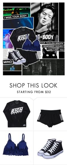 """""""MINO - 몸 (BODY)"""" by anniiebee ❤ liked on Polyvore featuring Joyrich, adidas, Cosabella and Supersonic"""