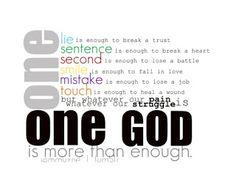 I'm glad I know Deut 6:4