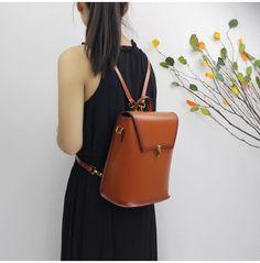 1dc67ed6b976 Genuine leather backpack rucksack shoulder bag messenger women s handbag  crossbody bag 14067 - LISABAG - 1