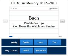 15 Best PSIA/UIL Music Memory images in 2018 | Teaching