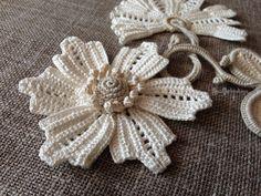 Irlandés del ganchillo crochet Adorno decoración chaqueta