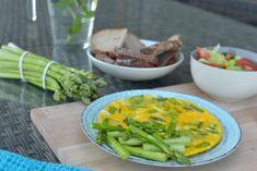 Špargľová omeleta Chia Puding, Vegetarian Breakfast, Green Beans, Healthy Recipes, Healthy Food, Food And Drink, Vegan, Vegetables, Cooking