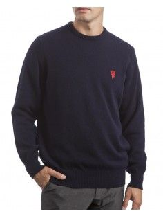 Men's Manchester United 100% Lambswool Crew Neck Sweater