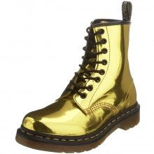 Gold Doc Martens--not good if you are distracted by shiny things