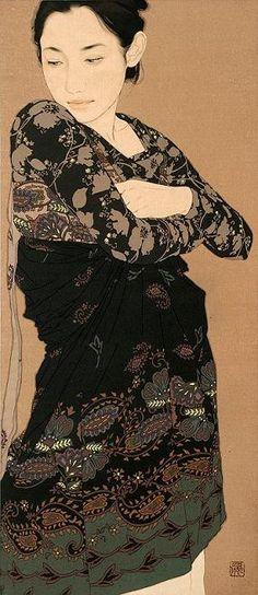 Contemporary Japanese Artist Yasunari Ikenaga - Portraits of Women