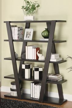 Cappuccino Bookcase by Coaster on @HauteLook