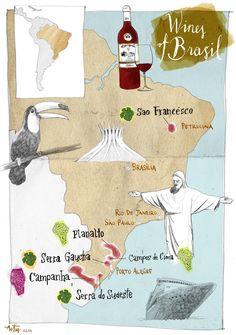 Map of Brasil by Artur Bodenstein
