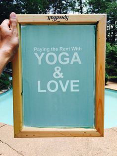 Paying the Rent With YOGA & LOVE  And so it begins...