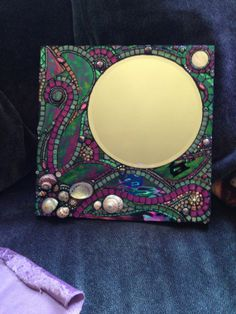 Moon Jewels and Mosaics by Moonjewelsandmosaics Mirror Mosaic, Mosaic Diy, Mosaic Crafts, Mosaic Projects, Mosaic Tiles, Stained Glass Frames, Stained Glass Designs, Stone Mosaic, Mosaic Glass