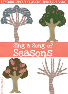 Our Sing A Song of Seasons song teaches little ones about the seasonal changes that occur every year and encourages us to get outside and look for clues. Seasons Activities, Music Activities, Kindergarten Activities, Movement Activities, Children Activities, Music Lesson Plans, Music Lessons, Music For Toddlers, Kids Music