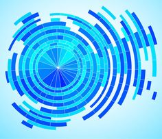 Abstract Tech Blue Rings Vector Background - http://www.welovesolo.com/abstract-tech-blue-rings-vector-background/