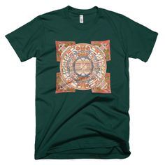 Vintage Indian World of Mortals Map Unisex Tee Mens or Womens 100% Cotton Short Sleeve T-shirt