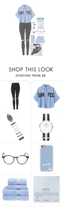"""""""i go to do // 6.27pm ☄️"""" by cathxwut ❤ liked on Polyvore featuring Topshop, Forever 21, Daniel Wellington, Cutler and Gross, Casetify, Christy, Dogeared and adidas"""