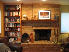 LOTS of before and after fireplaes. Fireplace Before Remodel