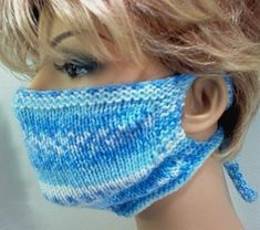 Knitting Pattern – How To Make Your Own Knitted Face MaskNow we intend to discover how to crochet A Confront Mask Together with Filter. Knitting Stitches, Knitting Patterns Free, Knit Patterns, Free Knitting, Crochet Mask, Crochet Faces, Knit Crochet, Flower Crochet, Diy Mask