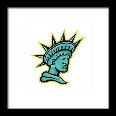 Mascot Framed Print featuring the digital art Lady Liberty Or Libertas Mascot by Aloysius Patrimonio Hanging Wire, Retro Fashion, Fine Art America, Liberty, Digital Art, Framed Prints, Lady, Artwork, Political Freedom