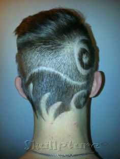 Freehand hairtattoo  for more hairy pictures <3 www.facebook.com/skullpturehair