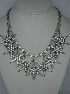 Askew London Large Multi Star Drop Necklace