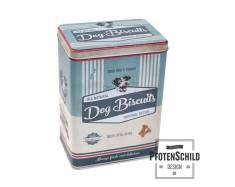 Pfotenschild Vintage Blechdose: Hunde Leckerlis 3 Liter