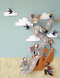 Paper sculptures -