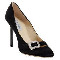 Jimmy Choo Pacey Buckle Satin Pumps