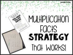 Multiplication Fact Strategy for students who don't know their upper level multiplication facts. Free printables!