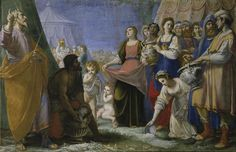 """Fabrizio Boschi, """"The Miracle of the Manna"""" (ca. 1594–1597), oil on canvas, 56.7 x 90.2 inches (all images from the collection of the Uffizi Gallery, courtesy the James A. Michener Museum)"""