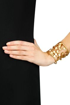Gold finish foilage cuff available only at Pernia's Pop-Up Shop.