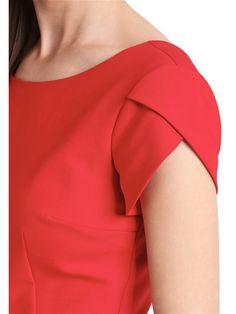 Платье APART. Цвет красный. Kurta Designs, Fancy Blouse Designs, Kurti Designs Party Wear, Neck Designs For Suits, Sleeves Designs For Dresses, Dress Neck Designs, Sleeve Designs, Leggings Mode, Leggings Fashion