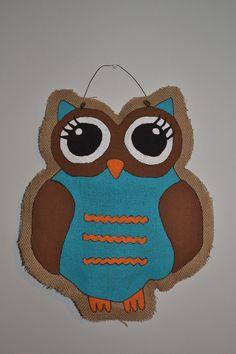 Burlap Door Hanger Owl Turquoise by BurlapandStuff on Etsy500 x 750 | 70.9 KB | www.etsy.com