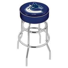 Vancouver Canucks NHL Retro Chrome Bar Stool, Available in your choice of two seat heights. Visit SportsFansPlus.com for details.