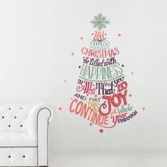 May This Christmas Be Filled With Happiness Wall Sticker Adesivo da Muro