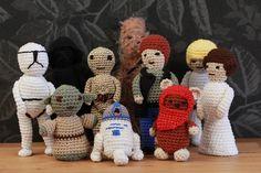 Star Wars amigurumi. Gratis mönster på svenska. Free pattern swedish. Virka Crochet