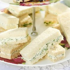 Herbed Cheese Tea Sandwiches.