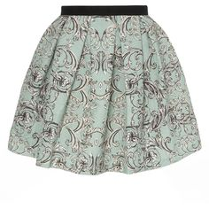 Dorothy Perkins Green Box Pleat Skater Skirt (64 CAD) ❤ liked on Polyvore featuring skirts, bottoms, faldas, green, green circle skirt, flared skirt, green skirt, skater skirt and dorothy perkins