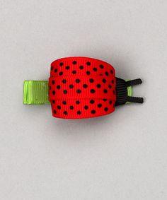 ladybug ribbon hairclip